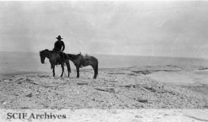 Reggie Lamberth At Whale Rib Remnants West End San Nicolas Island Photograph By Arthur Woodward C 1938 1939