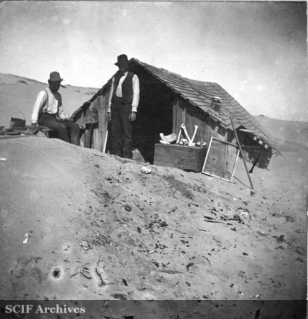 House At Corral Harbor San Nicolas Island Showing Drifting Sand July 1897
