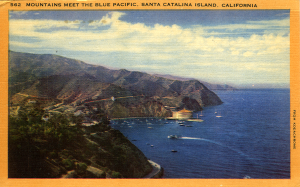 File:562 Mountains meet the Blue Pacific, Catalina - yellow borders.jpg