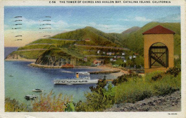 File:C.56 The Tower of Chimes and Avalon Bay, Cat Is. - white border.jpg