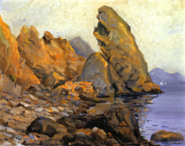 File:Olive Brack - (Abolone Point) Lovers' Cove, Cat Island, 1913.jpg