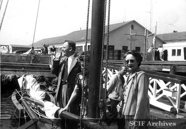 """File:4. B. Hughey Sept. 1950 cruise ketch """"Gaylady"""".jpg"""