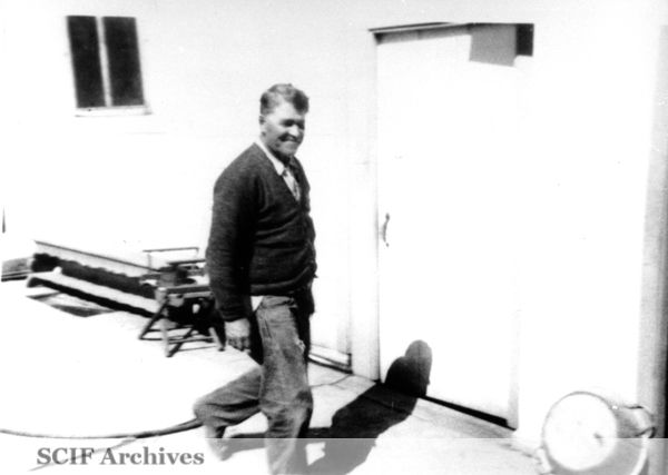 File:SRI Juan Ayon in front of old kitchen 1960s.jpg
