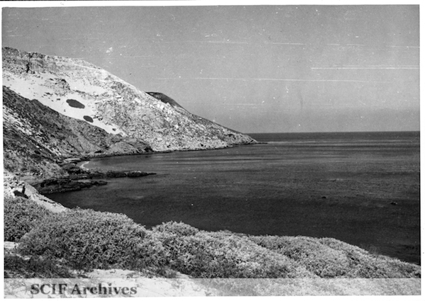 File:16 B. Hughey 9-1950 Cruise - on the beach SMI Cuyler's harbor.jpg