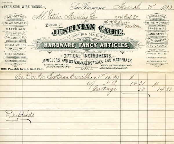 File:Caire Co. invoice March 3rd 1893.jpg