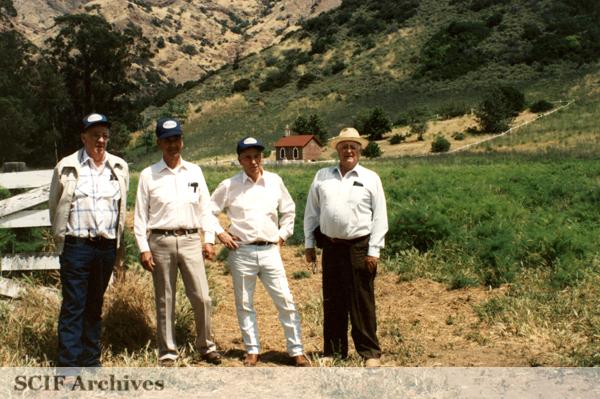 Al Vail, E. K. Smith, Russ Vail and Charles Storke, Santa Cruz Island c. 1996