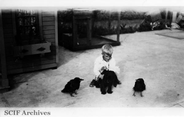 File:SRI Russ Vail with puppy and ravens.jpg