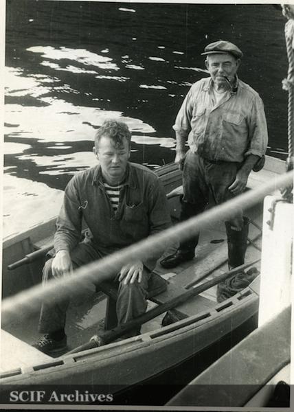 File:42 B. Hughey 9-1950 Cruise - Capt. Davis with Gov. Raymond LeDreu of Anacapa Is.jpg