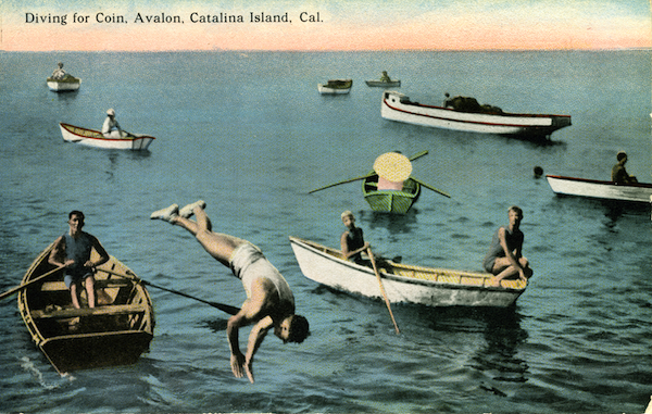 File:Diving for coin, Avalon, Catalina Island - pub by catalina novelty Co.jpg