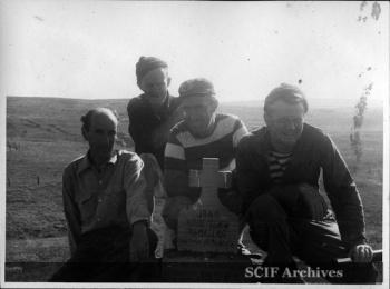 1. B. Hughey 9-1950 Cruise - Cap. Joaquin Alvarez, Capt. Pierce Sherman, Capt. Ben Hughey, Capt. Andrew Davis.jpg