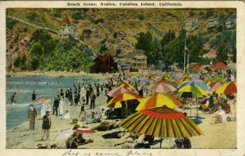 Beach Scene, Avalon - divided back, Cal Postcard Co. 005.jpg