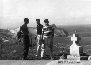 27 B. Hughey 9-1950 Cruise - Deserted Sheep Barn - SRI in background 1.jpg