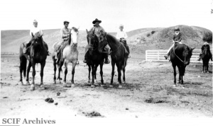 Al Vail, EK Smith, Charlie Smith, Russ Vail & Margaret Vail 1930s